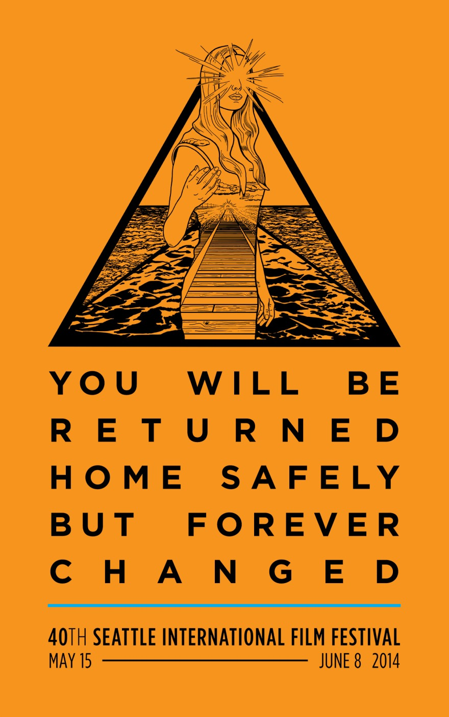 Seattle International Film Festival T-Shirt Illustration